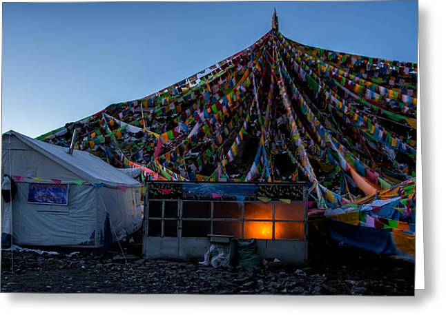 Tibetan Buddhism Greeting Cards - Morning Fire Greeting Card by James Wheeler