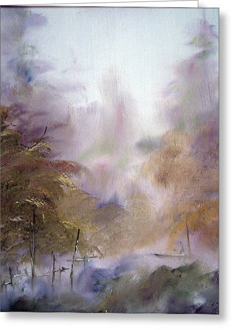 Morning Fog Greeting Card by Alena Samsonov