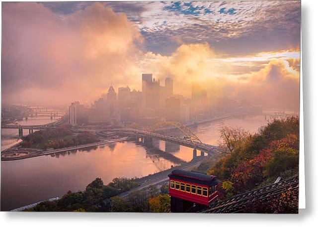 Morning Fog  Greeting Card by Emmanuel Panagiotakis