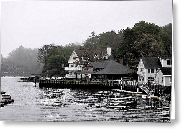New England Village Greeting Cards - Morning Fog Greeting Card by Kirt Tisdale
