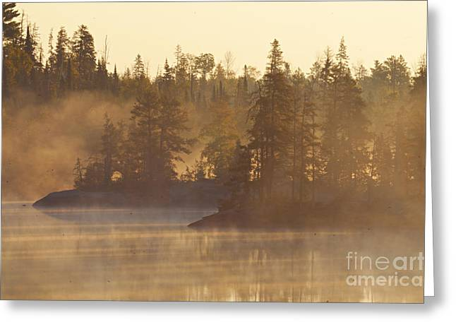 Boundary Waters Greeting Cards - Morning Fog Greeting Card by Larry Ricker