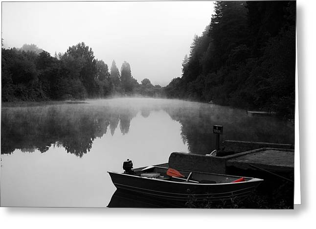 Sonoma County Greeting Cards - Morning Fog on Russian River Greeting Card by Art K