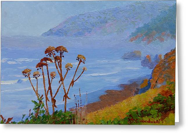Foggy Ocean Paintings Greeting Cards - Morning Fog Greeting Card by Susan Woodward