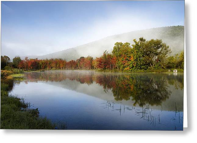 Fod Greeting Cards - Morning Fog Greeting Card by Vikas Garg
