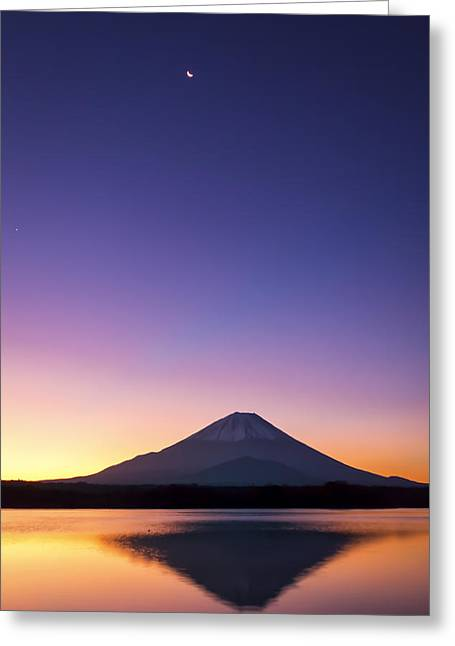 Romantico Greeting Cards - Morning Fujisan Greeting Card by Celso Michida