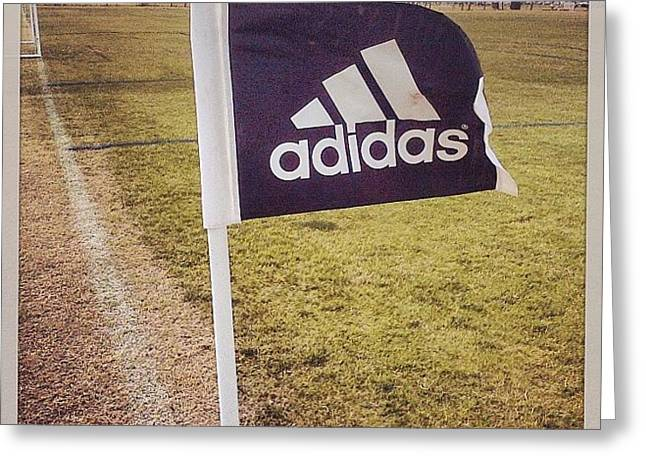 Adidas Greeting Cards - Morning Game Greeting Card by Scott Pellegrin