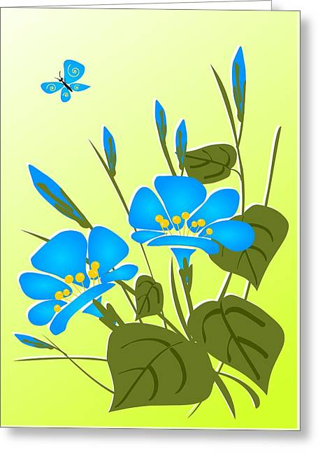 Morning Glory Greeting Card by Anastasiya Malakhova