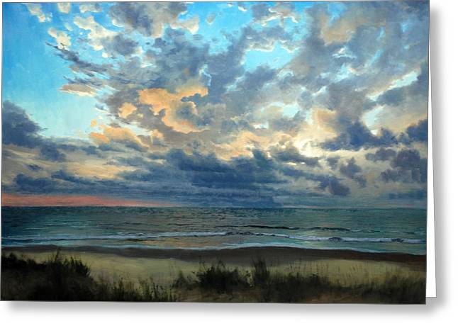Sea Oats Greeting Cards - Morning Glory Greeting Card by Armand Cabrera
