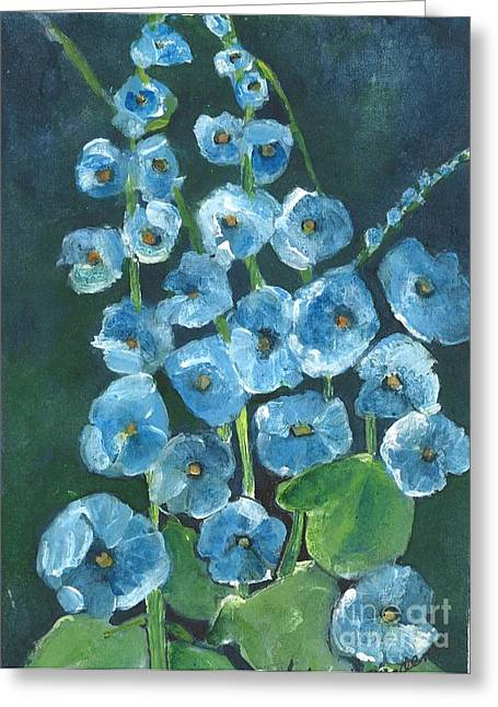 Wild Orchards Paintings Greeting Cards - Morning Glory Greetings Greeting Card by Sherry Harradence