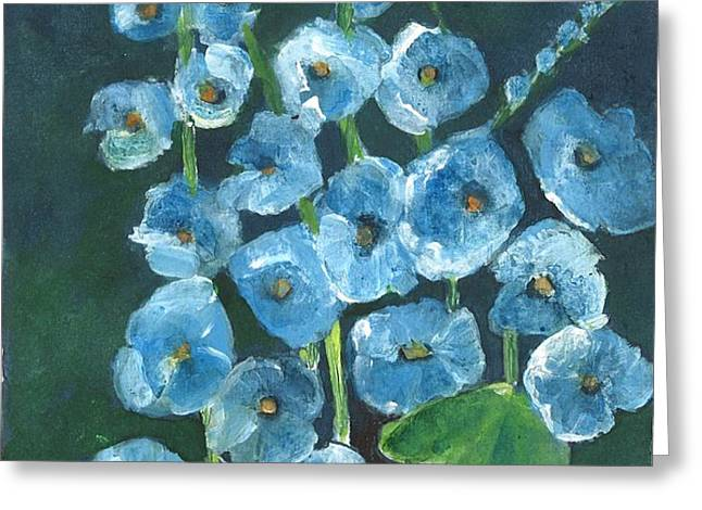 Morning Glory Greetings Greeting Card by Sherry Harradence