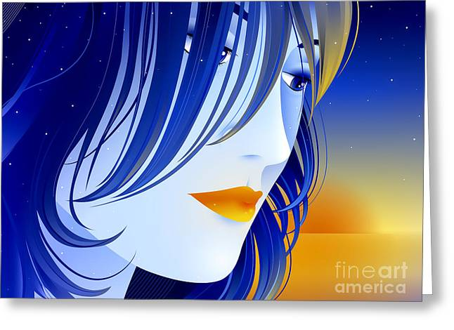 Lips Greeting Cards - Morning Glory Greeting Card by Sandra Hoefer