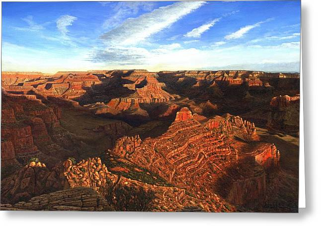Golden Ratio Greeting Cards - Morning Glory - The Grand Canyon from Kaibab Trail  Greeting Card by Richard Harpum