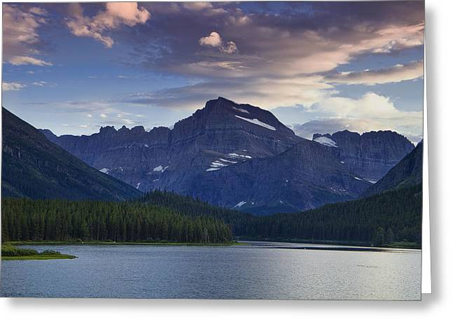 Morning Glow At Glacier Park Greeting Card by Andrew Soundarajan