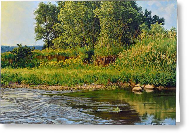 Summer Landscape Greeting Cards - Morning Glow Greeting Card by Bruce Morrison