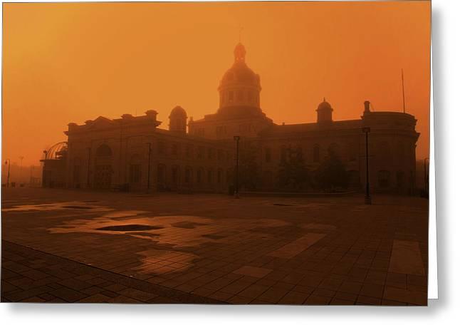 Kingston City Hall Greeting Cards - Morning Glow over City Hall Greeting Card by Jim Vance