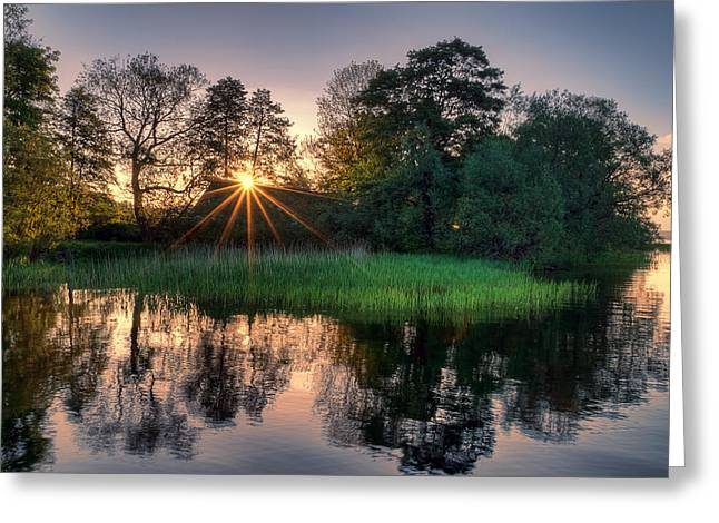 Lakeside Glow Greeting Card by EXparte SE