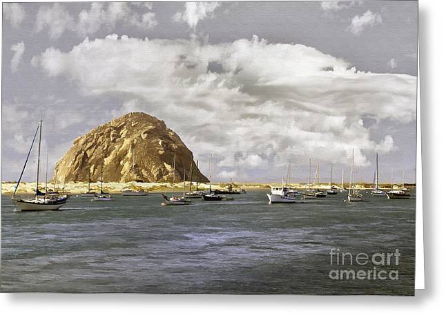Morro Bay Harbor Greeting Cards - Morning Harbor II Greeting Card by Sharon Foster