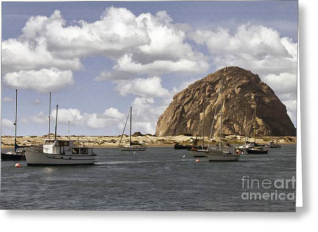 Morro Bay Harbor Greeting Cards - Morning Harbor Greeting Card by Sharon Foster