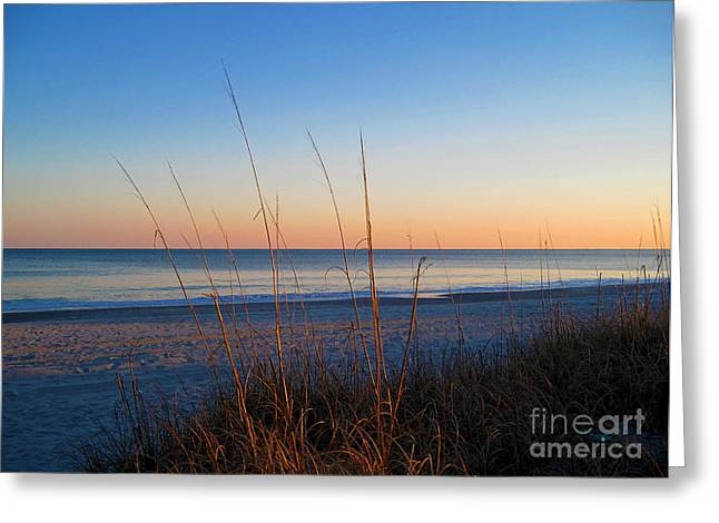 Early Morning Sun Greeting Cards - Morning has broken at Myrtle Beach South Carolina Greeting Card by Susanne Van Hulst