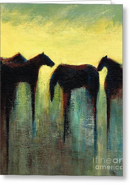 Contemporary Equine Greeting Cards - Morning Has Broken Greeting Card by Frances Marino