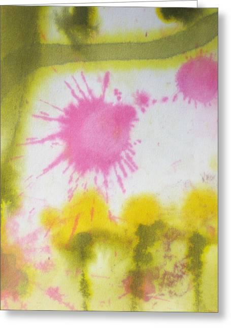 Garden Scene Mixed Media Greeting Cards - Morning has broken Greeting Card by Malinda Kopec