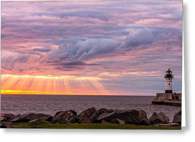 The Great Lakes Greeting Cards - Morning Has Broken Greeting Card by Mary Amerman