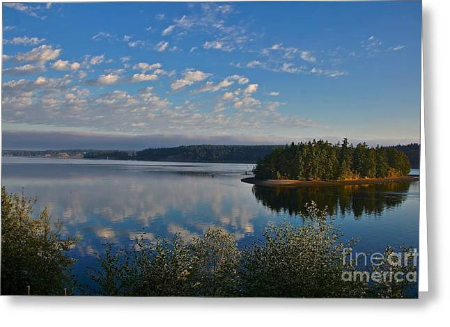 Steilacoom Greeting Cards - Morning Has Broken Greeting Card by Sean Griffin