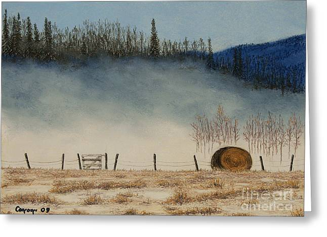 Haybales Pastels Greeting Cards - Morning Has Broken Greeting Card by Stanza Widen