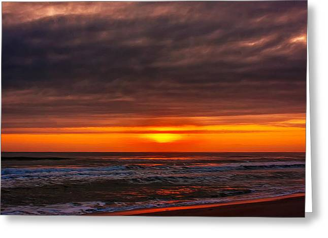 Sand Pattern Greeting Cards - Morning Has Risen Greeting Card by John Bailey