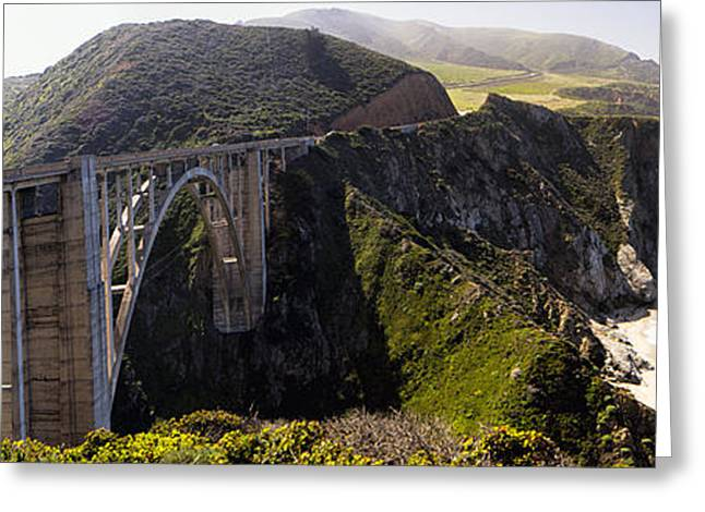 Big Sur California Greeting Cards - Morning Haze at the Bixby Creek Bridge Greeting Card by George Oze