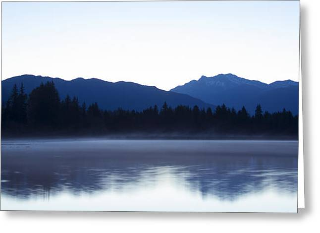 Blue Shadows Greeting Cards - Morning Hush Greeting Card by Aaron S Bedell