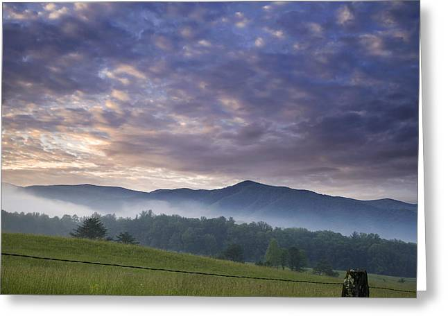 Smoky Greeting Cards - Morning In Cades Cove Greeting Card by Andrew Soundarajan