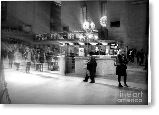 New Greeting Cards - Morning in Grand Central Greeting Card by Miriam Danar