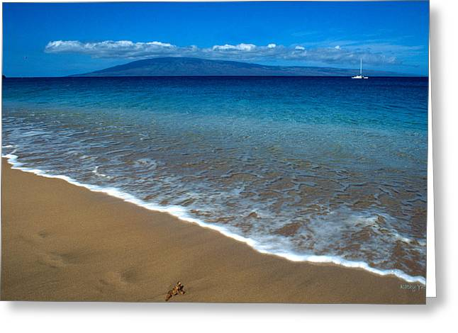 ; Maui Greeting Cards - Morning in Maui Greeting Card by Kathy Yates