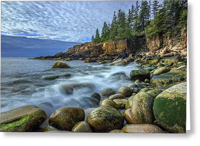 Acadia National Park Greeting Cards - Morning In Monument Cove Greeting Card by Rick Berk