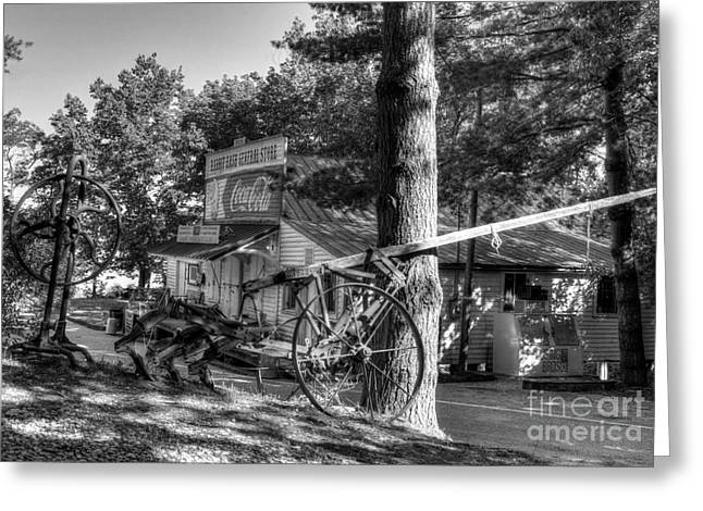 Rabbit Hash Greeting Cards - Morning In Rabbit Hash BW Greeting Card by Mel Steinhauer