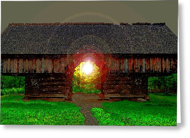 Cantilever Barn Greeting Cards - Morning in the Cove Greeting Card by David Lee Thompson