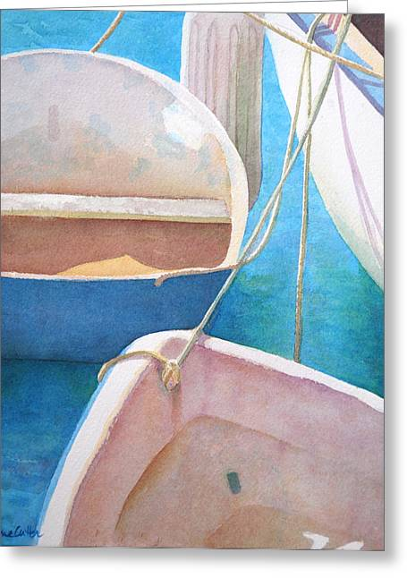 Diane Cutter Greeting Cards - Morning in the Marina Greeting Card by Diane Cutter