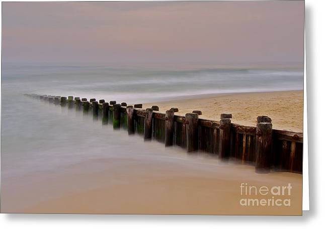 Lbi Greeting Cards - Morning Jetty Greeting Card by Mark Miller