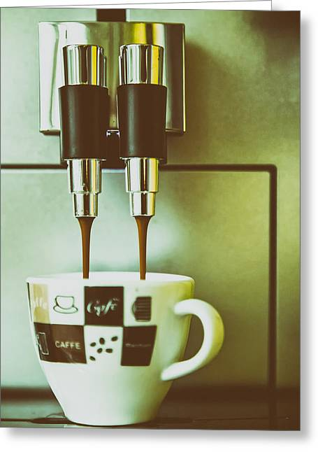 Pouring Greeting Cards - Morning Jolt Greeting Card by Mountain Dreams