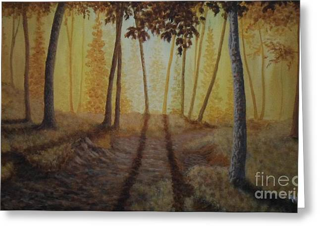 Raw Umber Greeting Cards - Morning Light Greeting Card by Andrew Lee