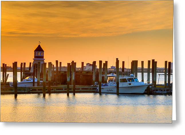 Morn Greeting Cards - Morning Light at Cape May Harbor Greeting Card by Bill Cannon