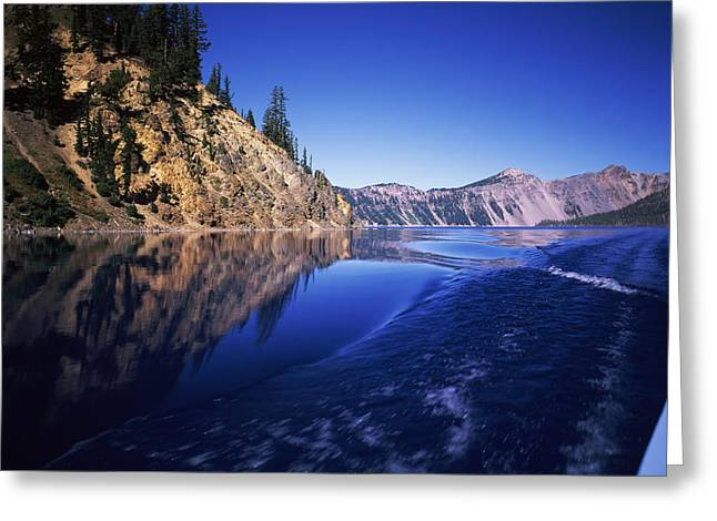 Crater Lake National Park Greeting Cards - Morning Light At Eagle Point, Crater Greeting Card by Panoramic Images