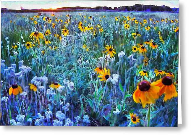 Best Flower Images Greeting Cards - Morning Light Greeting Card by Bernie  Lee