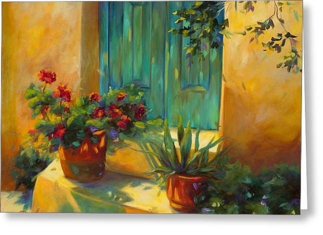 Entrance Door Greeting Cards - Morning Light Greeting Card by Chris Brandley