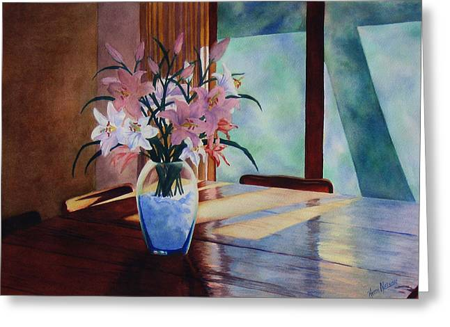 Interior Still Life Paintings Greeting Cards - Morning Light Greeting Card by Heidi E  Nelson