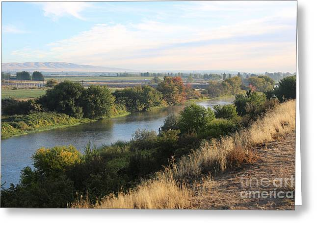 Yakima Valley Greeting Cards - Morning Light in Prosser Greeting Card by Carol Groenen