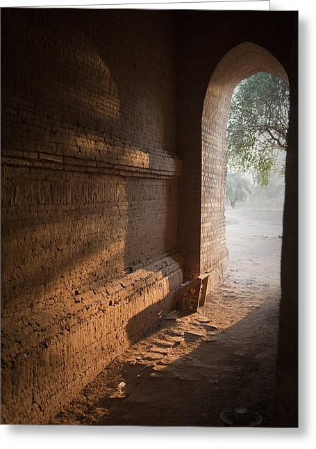 Sunlit Door Greeting Cards - Morning light Greeting Card by Maria Heyens