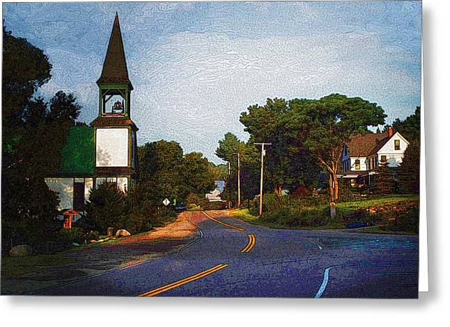 Rural Maine Roads Greeting Cards - Morning Light Mount Vernon Maine Greeting Card by Joy Nichols