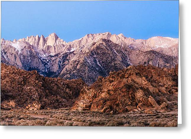 Mount Whitney Greeting Cards - Morning Light Mount Whitney Greeting Card by Anthony Bonafede